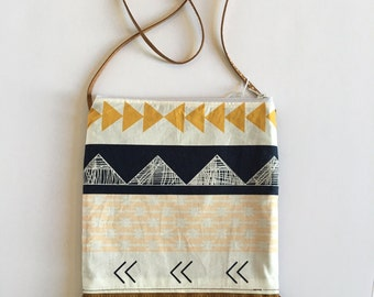 Little Girls Purse teepee tribal with suede fringe