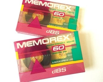 Vintage 1980s Memorex 60 Minute Blank Cassette Tape NOS / Sold Individually
