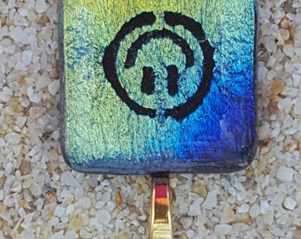Smiley Face Dichroic Pendant