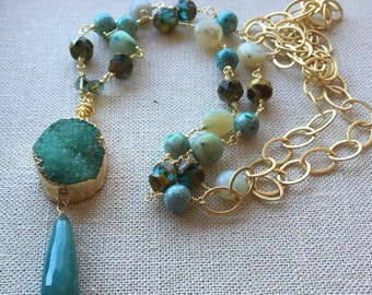 Sea Dreams Druzy Necklace