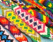 CLOSEOUT 5 Macrame Friendship Bracelets Woven - Handmade - Assorted Colors - Braided String Tie Closure Add Charms Beads or Wear As Is FBMix