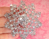 Rhinestone Brooch with Pin Back Approx 3 inches Silver Crystal Style 3 Jewelry Supplies for Holidays Christmas Gift Wedding Brooch Bouquet