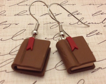 Polymer Clay Book Earrings, Bookworm/Reader Gift