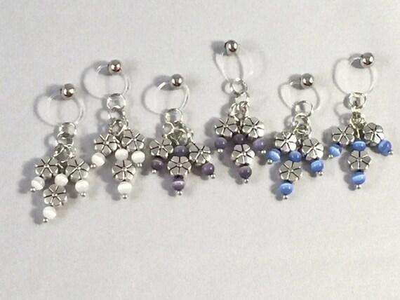 Non piercing nipple jewelry flower fun u pick color bead for Pierced nipple stretching jewelry