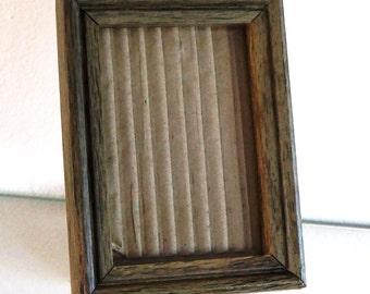 Vintage Wood Picture Frame Oak Wooden Photo Frame Small 4 x 6