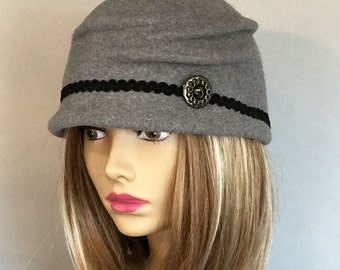 Kelsey, Fur Felt Newsboy Cap, millinery hat, grey heather