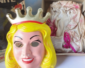 Vintage White For Nite Cinderella Mask in Box.