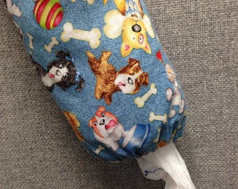 50% OFF SALE - Dogs With Bones Plastic Bag Dispenser/Plastic Bag Holder