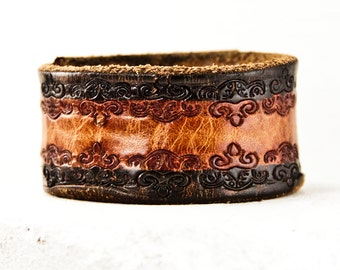 Leather Cuff Jewelry Bracelet Wristband Wrist Cuffs  Gift Idea 2017