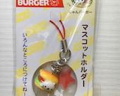 Nyanko burger cat kawaii phone strap
