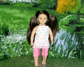 OGM-154) 6.5 inch Our Generation , American Girl and Lori , MINI doll clothes, 1 leggings and cute top