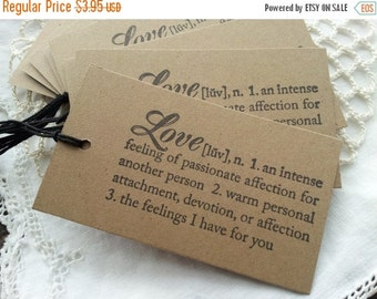 SALE Definition of Love Wedding Tags Dictionary Bridal Shower Party Set of 8