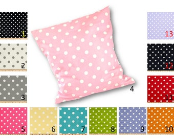Polka Dot Print Throw Pillow Cover in choice of polka dot fabric by Premier Prints - Different sizes to choose from - FR