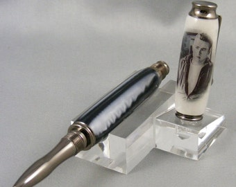 James Dean in Black and White on Gunmetal Grey Rollerball