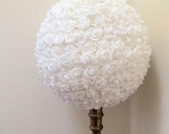 Extra Large Kissing Ball Rose Pomander Tall Centerpiece Weddings