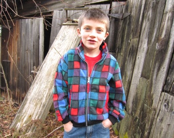Vintage Obermeyer Kids Color Block Fleece Ski Jacket size 6