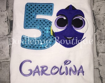 Finding Dory birthday shirt ANY number