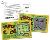 Pregnancy Reveal Scratch Off Lotto Replica Ticket Triple Your Luck Pregnancy Announcement Card (5 Cards)