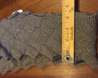 Hand made wool scarf with unusual stitch