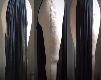 Minimal burlesque or boylesque panel skirt with elastic waistband