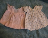 Two Doll Dresses from the 1930's Adorable