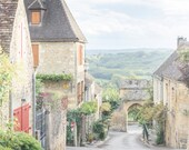 France Photography, Evening in Domme, France, Dordogne, French Home Decor, Europe Fine Art  Travel Photograph, Large Wall Art