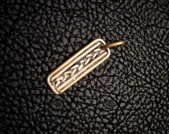 Ancient Inspired, Brass Pendant, Brass jewelry, greek pendant, roman pendant, anient jewelry, woven pendant