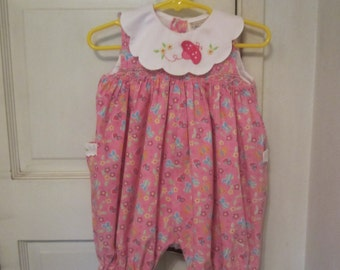 Vintage Style CHARLESTON CHILD Smocked Romper Dress 6-9M