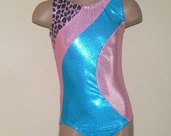 Gymnastics Dance Leotard with Unicorn Print Insert Size 2T - Girls 10