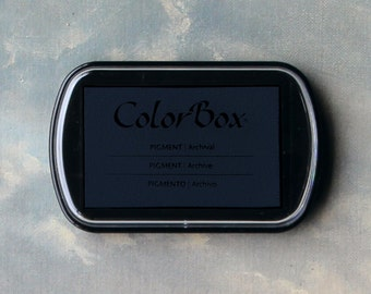 Navy Blue Stamp Pad (Midnight) // Pigment Archival Ink // ColorBox