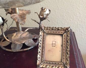 Antique Miniature metal frame