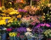 Paris Photo Flower Shop Photograph France Print Paris Decor Wall Art Home Decor Flower Store Photo par125