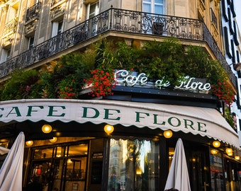 Cafe de Flore Photo - Paris Photography - France Decor - Bistro Print - Paris Restaurant - Fine Art Print par207
