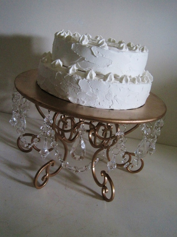 rose gold cake stand 14 chandelier style made to order. Black Bedroom Furniture Sets. Home Design Ideas