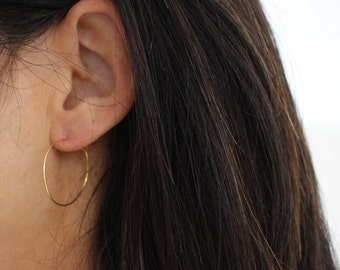 Small Gold Hoop earrings - versatile and minimal gold jewelry - vermeil gold