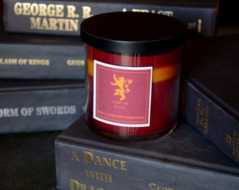 House Lannister Game of Thrones Candle