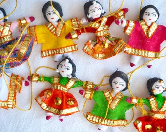Vintage Miniature Dolls Garland - Made in India