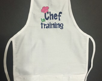 Children's Chef Apron Personalized Unisex Kids Craft Baking Ages 3-7 childs