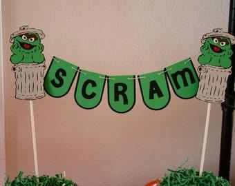 Oscar The Grouch Cake Etsy