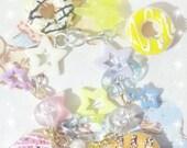 Fairy Kei Doughnut and Teddy Bear Bracelet
