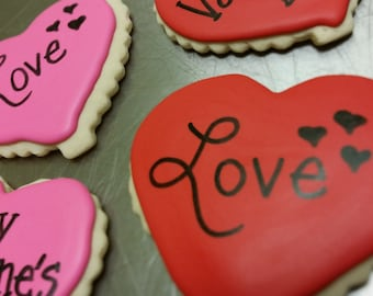 Scalloped Edge Hearts Cookie Package