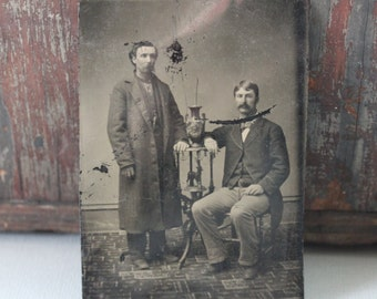 Victorian Tintype Portrait / Two Gentlemen