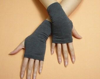 Short Graphite Fingerless Gloves Rockabilly Armwarmers Biking Gloves Mittens Skater Texting Arm warmers Cyber Gothic Boho Palm cover Stulpen