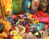 Reserved Multi-Coloured Fun Mohair Locks for spinning, felting, doll hair, 4 oz