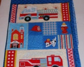 Panel Firefighter Appliques Fabric Pillows Place Mats craft show sewing supply Fire Engines Hydrant Dalmation Firehouse Fire Helmet
