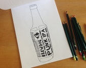 Bespoke Illustration for Craft Beer Colouring Book