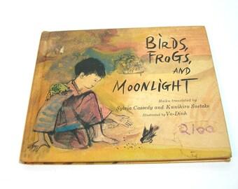 Birds, Frogs And Moonlight, Haiku, Vintage Childrens Book