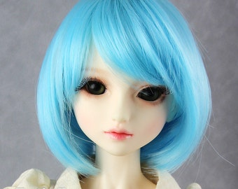"""Fatiao - New Dollfie SD 1/3 BJD Dolls Wig size 8-9"""" - Blue"""