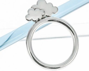 Silver Clouds Stacking Ring | Silver Weather Jewellery | Eco-friendly Jewellery | Ethical Silver Jewellery