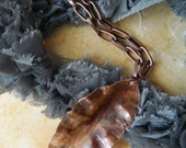 The Falling Leaf - Copper Pendant Necklace